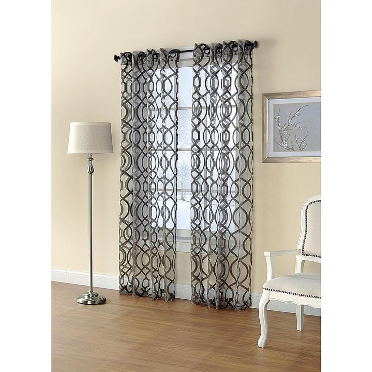 Printed Sheer Window Panel Dress Up Your Home With Sears And Kmart