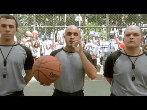 A street basketball game turns into a NBA match