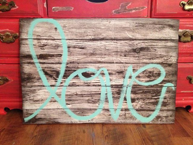 love sign- I need this for above our bed!