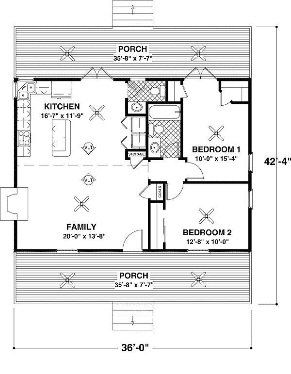 Best 25 One bedroom house plans ideas on Pinterest 1 bedroom