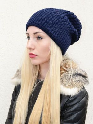 Шапка темно-синяя - Fashion Look - 2702520
