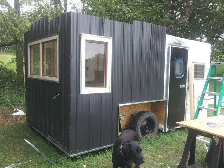 Camper to Drop Down Ice Shack Conversion