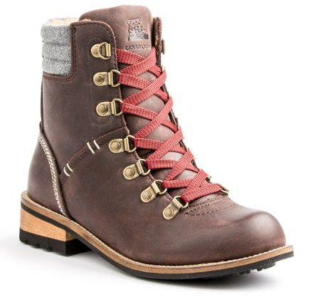 An REI exclusive, the waterproof Kodiak Surrey II boots offer retro hiking-boot style that looks great with your favorite jeans or khakis. Microfiber lining and insulation provide breathable warmth. Available at REI, 100% Satisfaction Guaranteed.