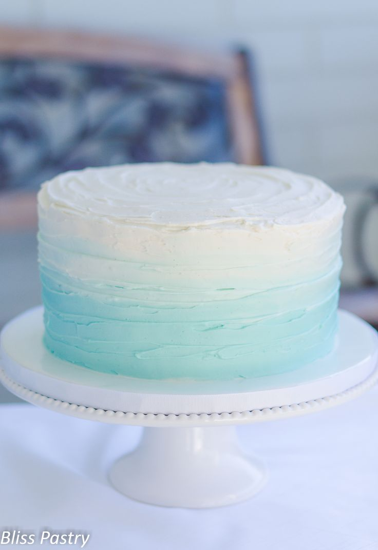 Ombre Buttercream Baby Shower Cake Bliss Pastrys Cakes