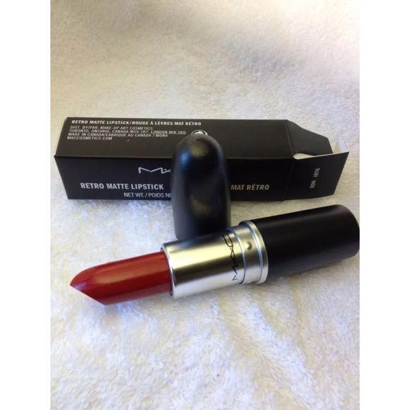 MAC Ruby Woo Lipstick Brand new in box. Bundle 3 lipsticks for $35!! MAC Cosmetics Makeup Lipstick