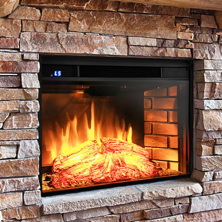 Features:  -Comes with remote control.  -Realistic simulated flames with logs set and brickwall.  -Flat tempered glass.  -Safety thermal cut-off built-in to prevent overheating.  -6 Heat levels settin