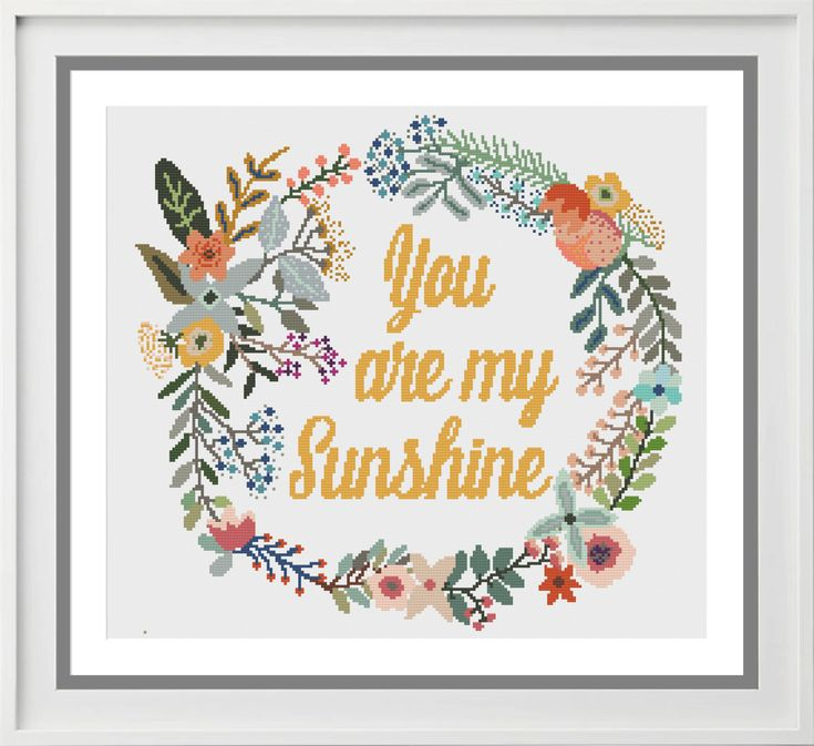 Cross Stitch Pattern You are my sunshine by PeppermintPurple