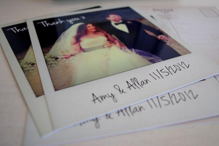 Vintage Polaroid photo Thank You Card | wedding polaroids