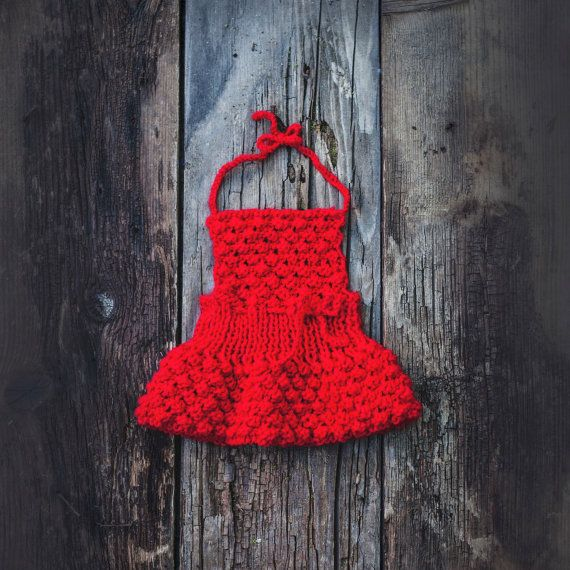 Newborn photo prop/ Red baby dress/ Newborn by GabriCollection