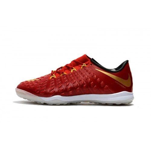 Billige Fodboldstøvler Tilbud - Billig Nike Hypervenom Phantom III TF Rød Fodboldstøvler