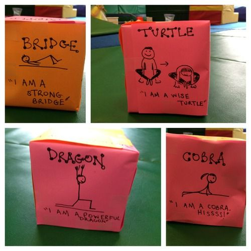 Roll the Yoga Dice - great visual when using yoga as a regulating sensory strategy.