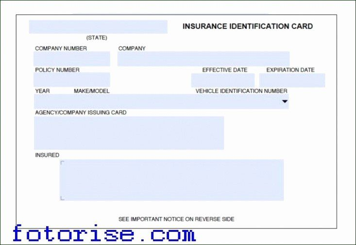 Automobile Insurance Card Template In 2020 Card Template Postcard Template Free Printable Business Cards