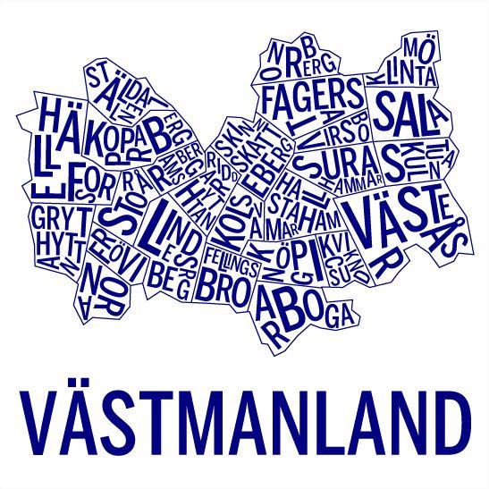 Västmanland i färgen marinblå
