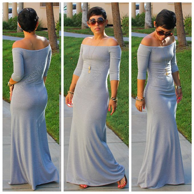 Mimi G - DIY Heather Grey Maxi - http://mimigoodwin.blogspot.com/2013/07/diy-heather-grey-maxi.html#.UdsKzsXWjnh