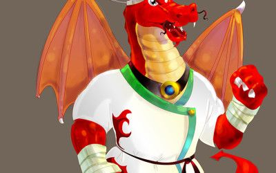 dragon-red-color