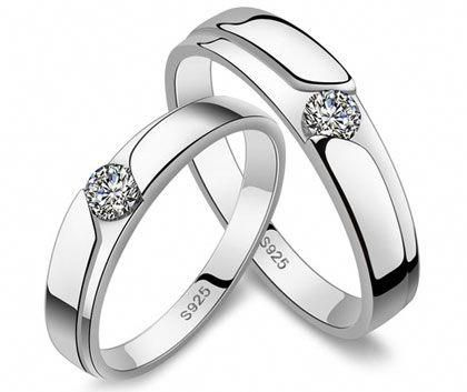 Diamond Wedding Rings For Women And Men Korean Gifts For Couples In