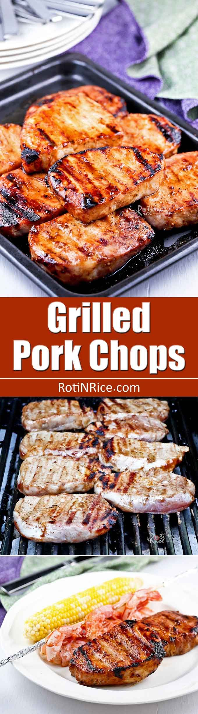 These Grilled Pork Chops Are Tender, Juicy, And Full Of Flavor Minimum  Preparation
