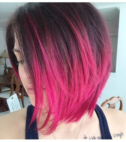Pink bob hair