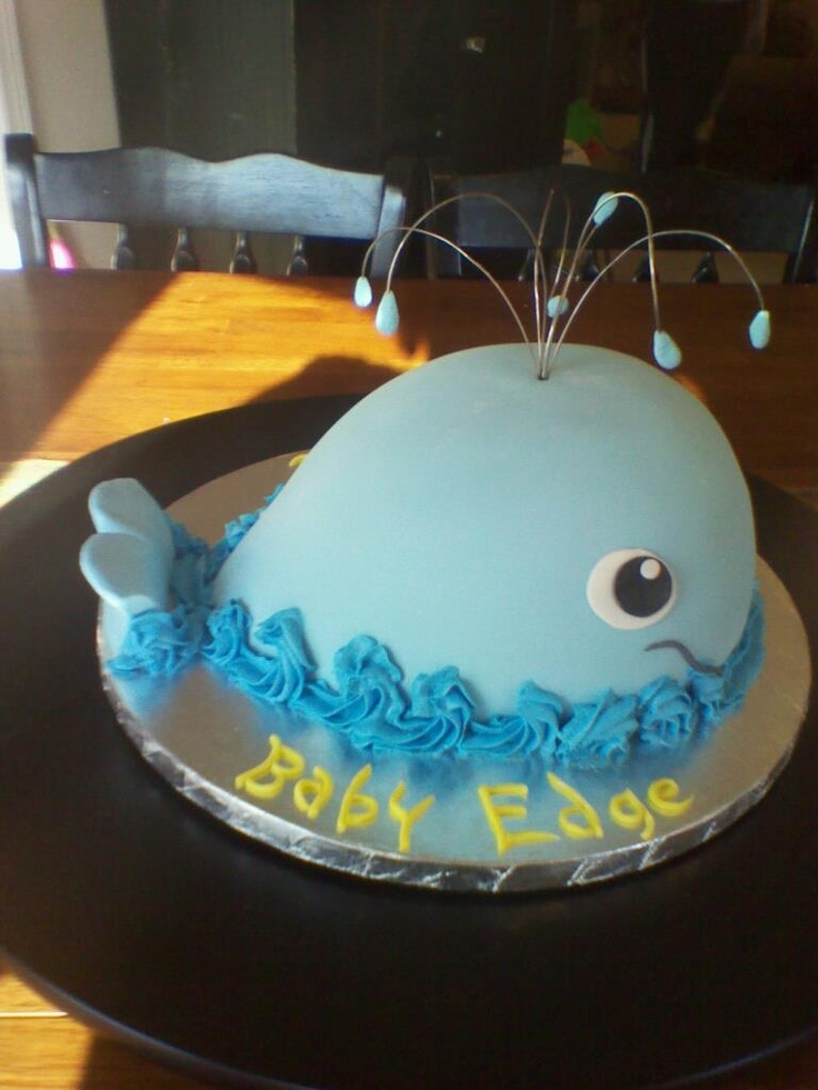 Charming Whale Baby Shower Cake