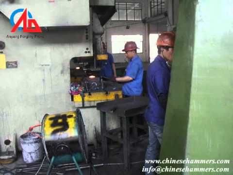 How to forge spheric hinge by 25kj cnc forging hammer,drop forging hamme...