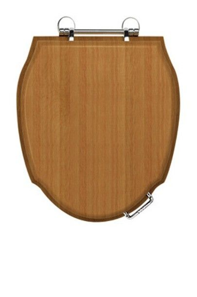 Imperial Westminster toilet seat with soft close hinges, £192, white wood, antique gold hinges