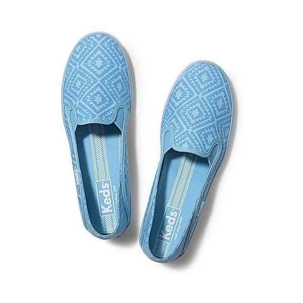 Keds Crashback Tribal (75 SAR) ❤ liked on Polyvore featuring shoes, sky blue, keds, slip on shoes, tribal shoes, keds footwear and slipon shoes