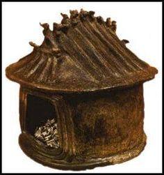 Urna cineraria en forma de cabaña, cultura villanoviana (s VIII a.C.)