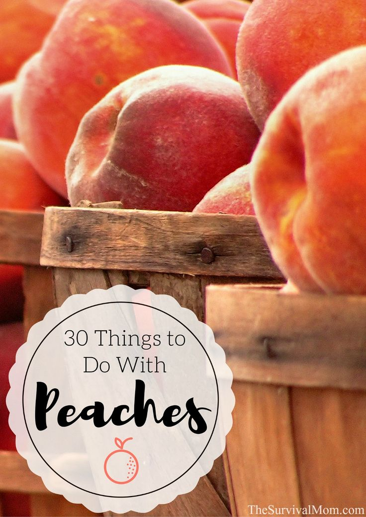 There's more to enjoying peaches than just taking a bite! Here are 30 things to do with peaches, beyond slicing and eating! Links to lots of great recipes!