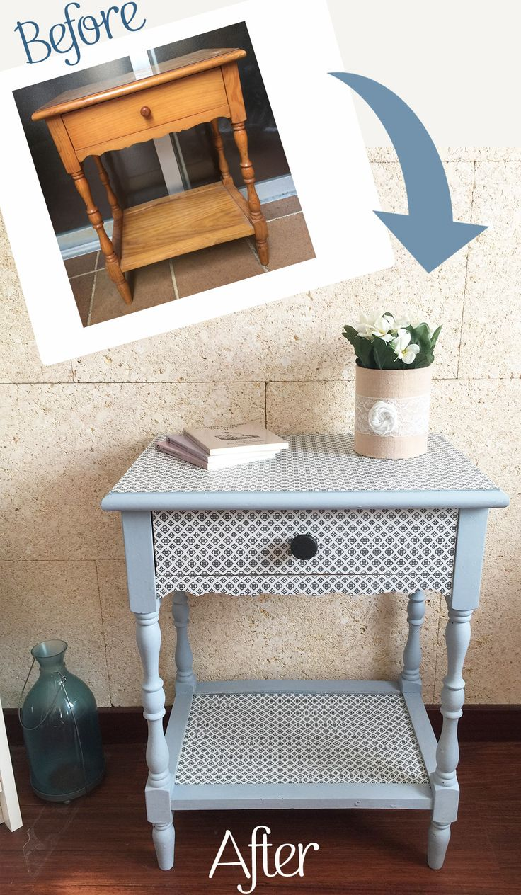 Transform furniture with decoupage and old fashioned milk - Transformar muebles viejos ...