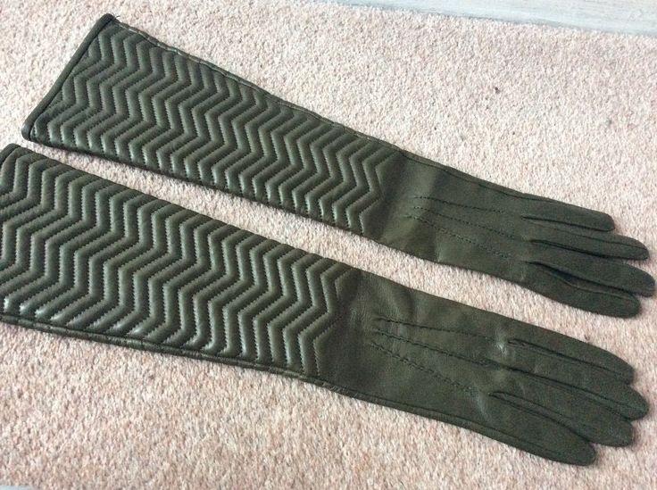 Luxe Prada Leather elbow length gloves