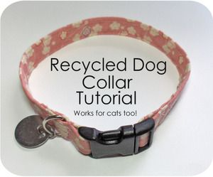 Sew your own dog collar with hardware from your old dog collar, some fabric & iron-on interfacing! This tute doesn't show how to make an adjustable one, but if your dogs' neck has stopped growing, it doesn't need to be! :)