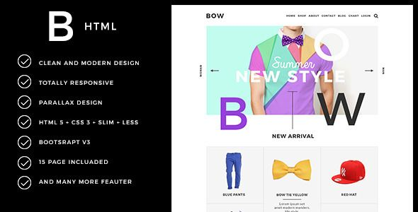 BOW - Parallax Responsive Fashion Template - Fashion Retail
