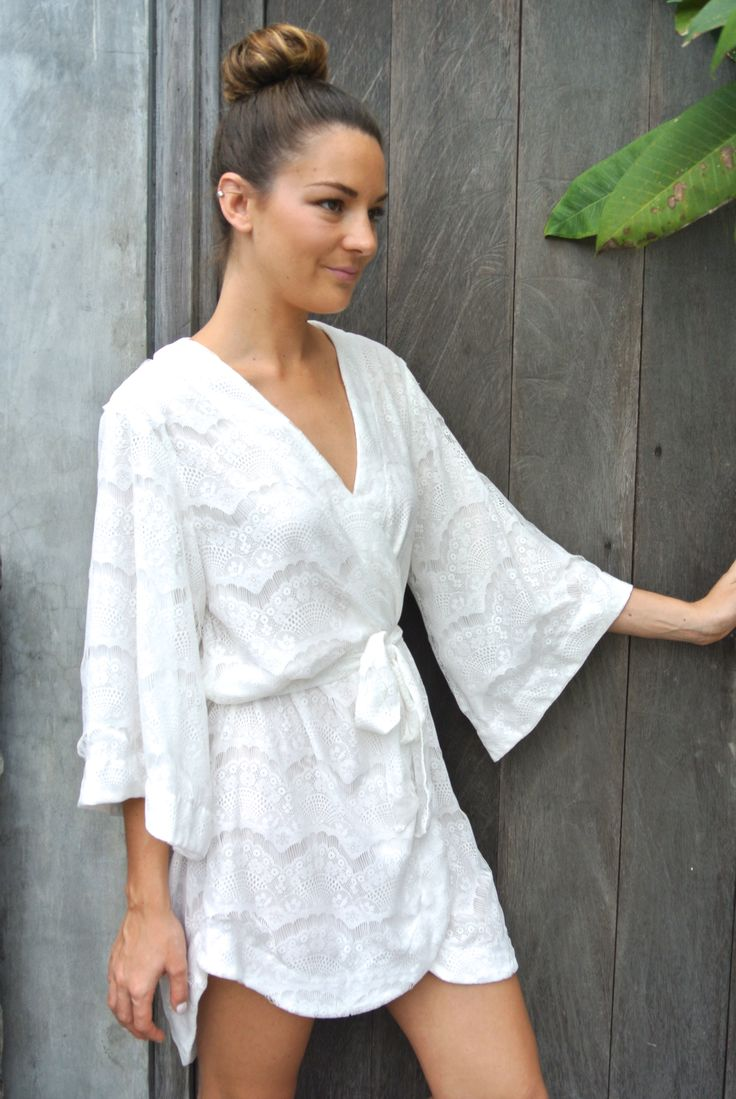 beautiful bridal robe by Piyama on Etsy