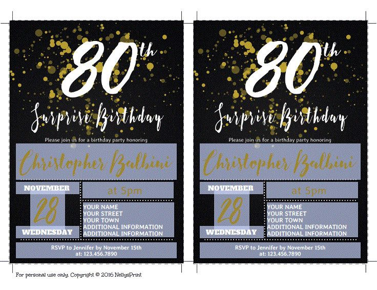 Best 25 Surprise Birthday Invitations Ideas On Pinterest