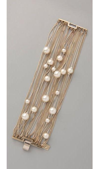 Runway Multi Strand Pearl Bracelet