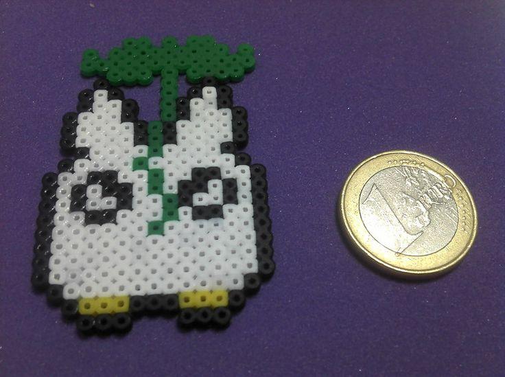 Totoro Chibi hama mini beads by Laucrafteo on deviantart