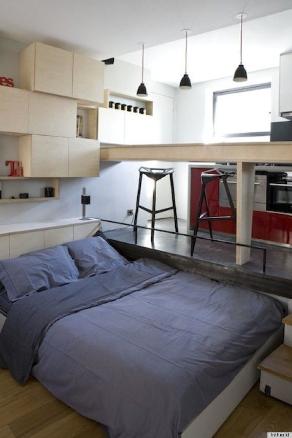 "130-Square-Foot Tiny Apartment In Paris A small Paris apartment has been the object of many a real estate fantasy thanks to the iconic Audrey Hepburn film, ""Sabrina."" Marc Baillargeon and Julie Nabucet designed an apartment in Paris that measures a tidy 130 square feet. Do you think this home is too tiny?"