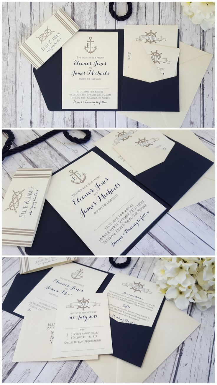 Nautical Wedding Invite ◦ Boat Wedding Invitation ◦ Sailing Wedding Invitation