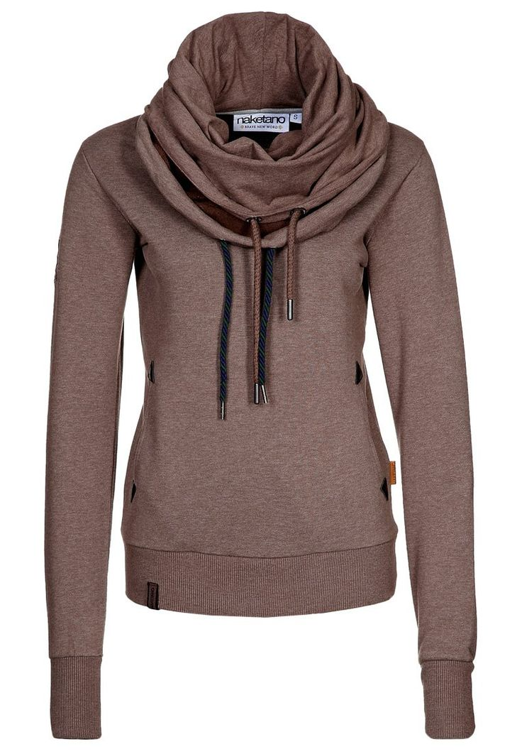 Scarf and a hoodie in one! My kind of sweatshirt