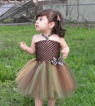 Camoflauge Tutu Dress -Infant. $25.00, via Etsy.