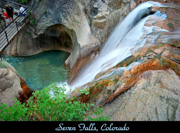 Seven Falls - Colorado Springs, Colorado. When visiting Co this is a favorite place to hike.