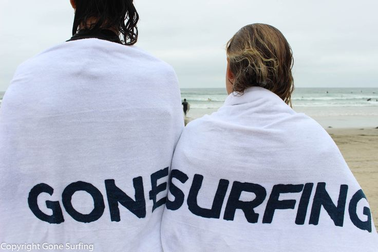 Gone Surfing beach towel, clean white, thick and plushy! From Gone Surfing Company