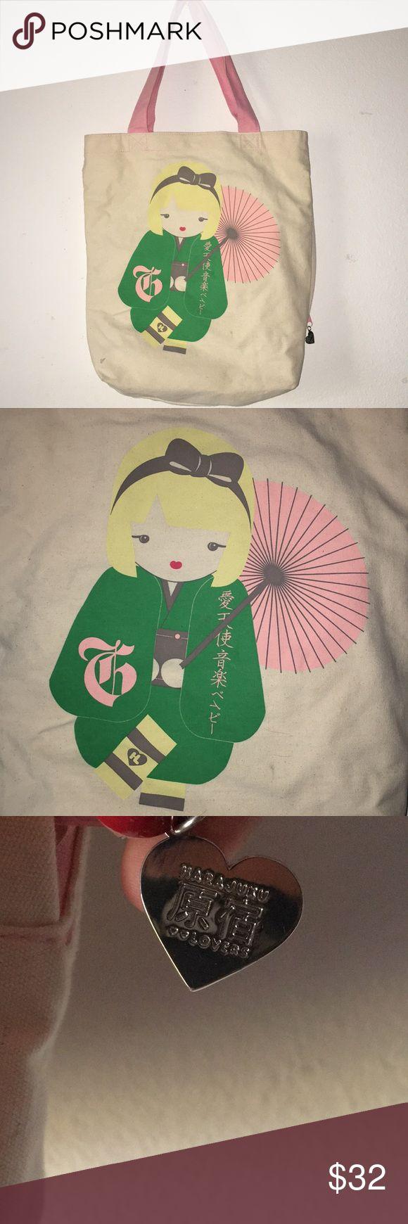 Harajuku Lovers canvas tote bag . Harajuku Lovers Bags Totes