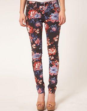 ASOS Skinny Jeans in Floral Print