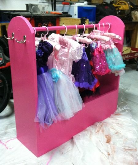 Dress Up Storage | Do It Yourself Home Projects from Ana White not pink and bigger base maybe?