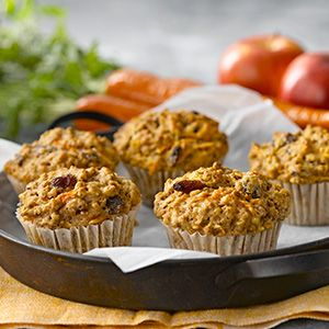 Carrot, Apple, Bran muffins