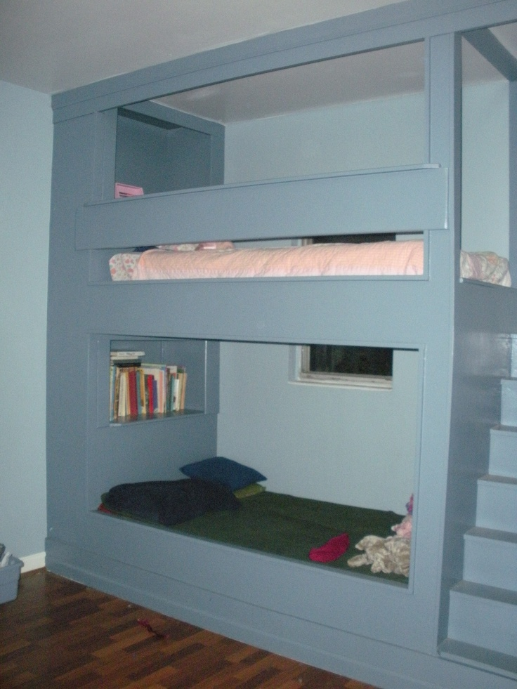 E (top) chose the other top, and the bottom bunk is for guests...