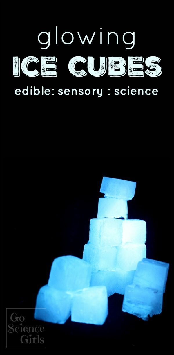 How to make (edible) glowing ice cubes! Great idea for open-ended sensory play for kids, and did I mention, they glow??? Cool....