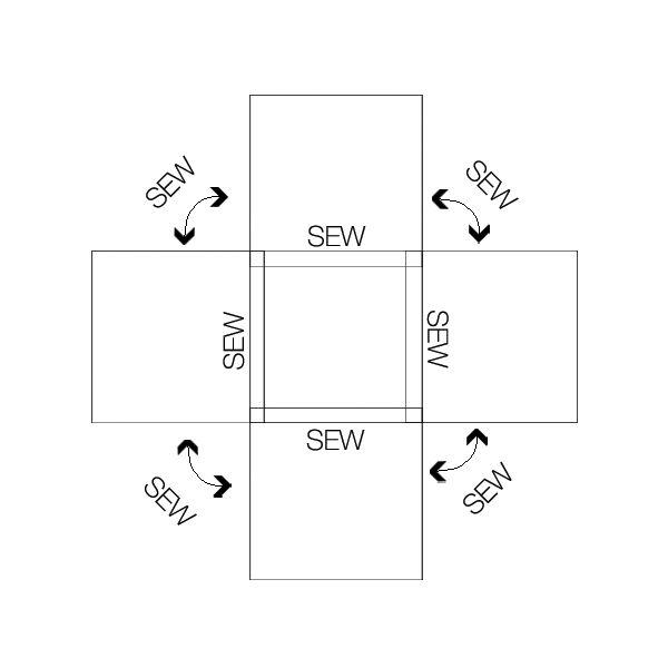 DIY Pouf - IKEA Hack    | KristiMurphy.com | DIY Ideas