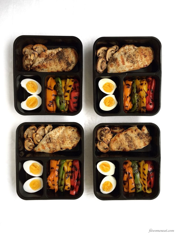 Colorful grilled bell peppers and grilled chicken | meal prep